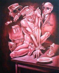 La manipulation mentale, et la coercition sociale, souvent du fait d'un Etat ou d'une secte...