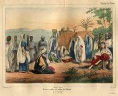 Conteur arabe au milieu des Fellahs en Egypte, Goupil-Fesquet Frédéric Auguste Antoine, 1843