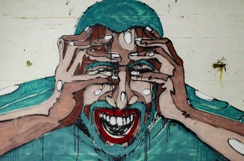 """Toile peinte par Aarón Blanco Tejedor; et qui illustre très bien l'état de stress chronique avancé, ce """"tueur silencieux""""."""