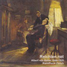 Séance d'hypnose - Une toile du peintre suisse Albert von Keller, Kunsthaus (Musé des Beaux-Arts) de Zürich.
